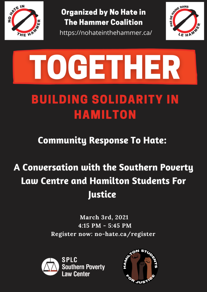 poster for event Together: Community Response to Hate