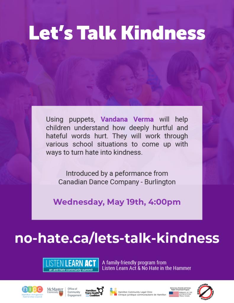 Let's Talk Kindness poster